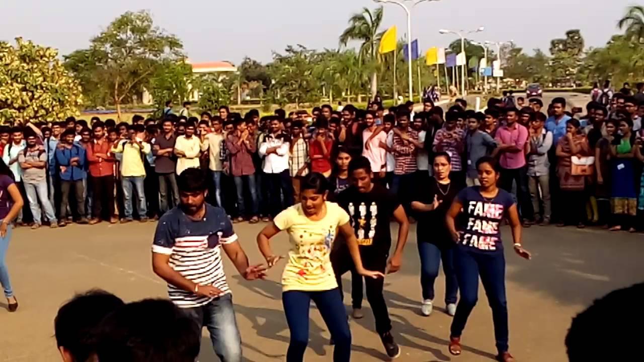 mvgr college flash mob youtube