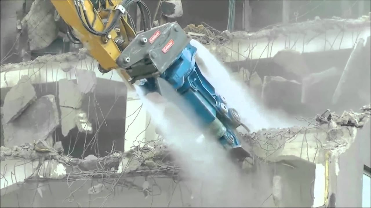 Dust Control In Demolition With Dynaset Hpw Dust High Pressure Dust Suppression Youtube