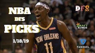 1/18/19 NBA DFS Picks Fanduel + Draftkings