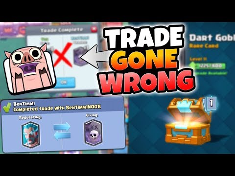 LEGENDARY TRADING W/ MYSELF GONE WRONG! & FREE LEGENDARY OPENING IN CLASH ROYALE!