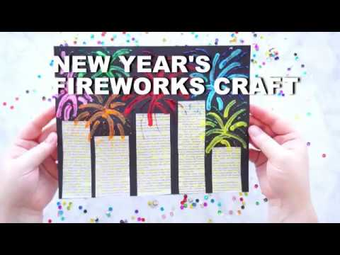 Mixed Media New Year S Eve Fireworks Craft For Kids Youtube