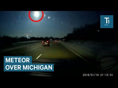 Meteor explodes just above Michigan and Canada