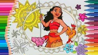 Principessa Moana  Moana Coloring Book Video per Bambini - Impara i Colori per Bambini