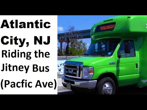 Altantic City - Riding the Jitney bus on Pacfic Ave with relaxing music