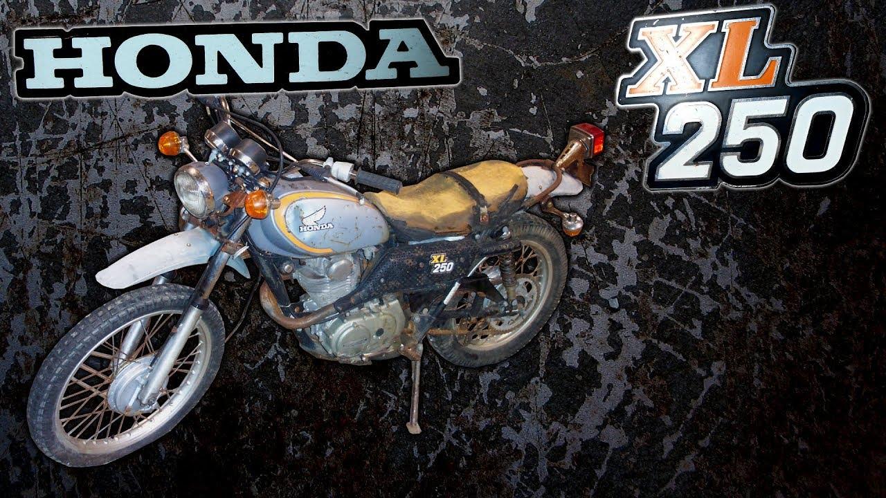1974 Honda XL250 On Off Road Bike Restoration (Part 1 of 2) on