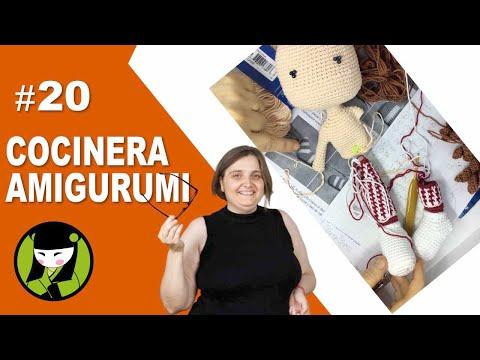 Cocinera amigurumi 20 brazo tejido a crochet