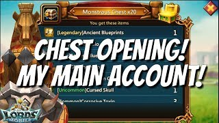 Chest Opening On My Main Account! - Lords Mobile