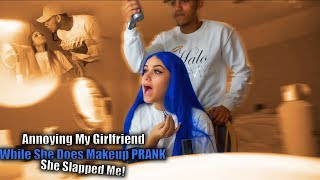 Annoying My Girlfriend While She Does Her Makeup!!