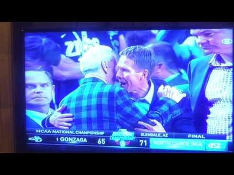North Carolina 71 Gonzaga 65 Tar Heel Win NCAA National Championship