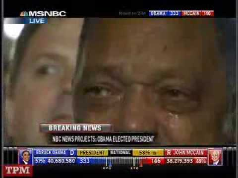 Jesse Jackson Get Emotional As Obama Wins Presidential Election [NEW]