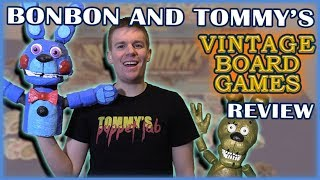 Tommy and Bonbon Review Vintage Board Games! (Plushtrap goes crazy)