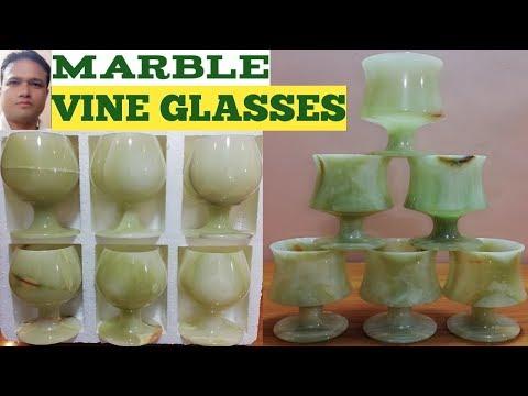 Marble (VINE GLASSES) Size 3x5 On Pakistan Handicrafts.