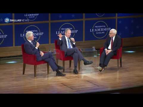President Bush and Clinton talk about Leadership Scholars Program