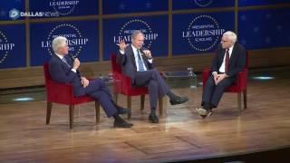 President Bush and Clinton talk about Leadership Scholars Program