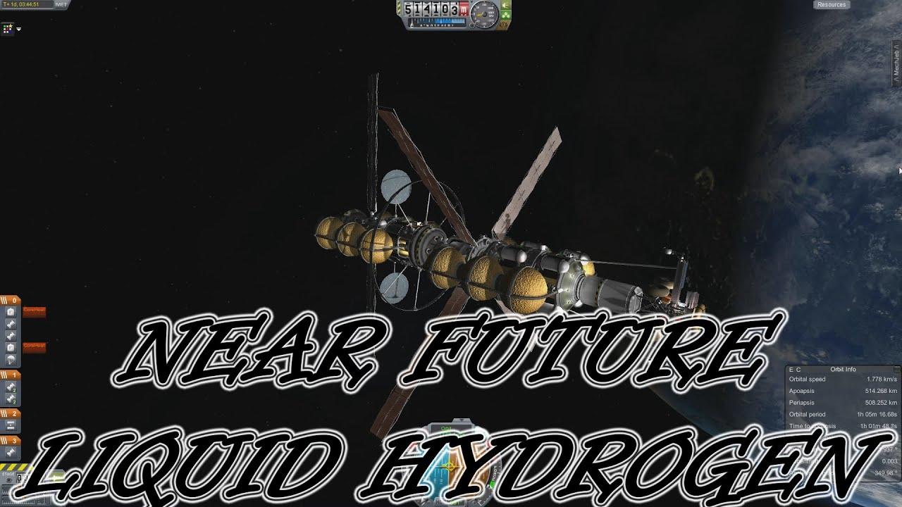 Kerbal Space Program - Near Future Propulsion Mod - Liquid Hydrogen #6 - YouTube