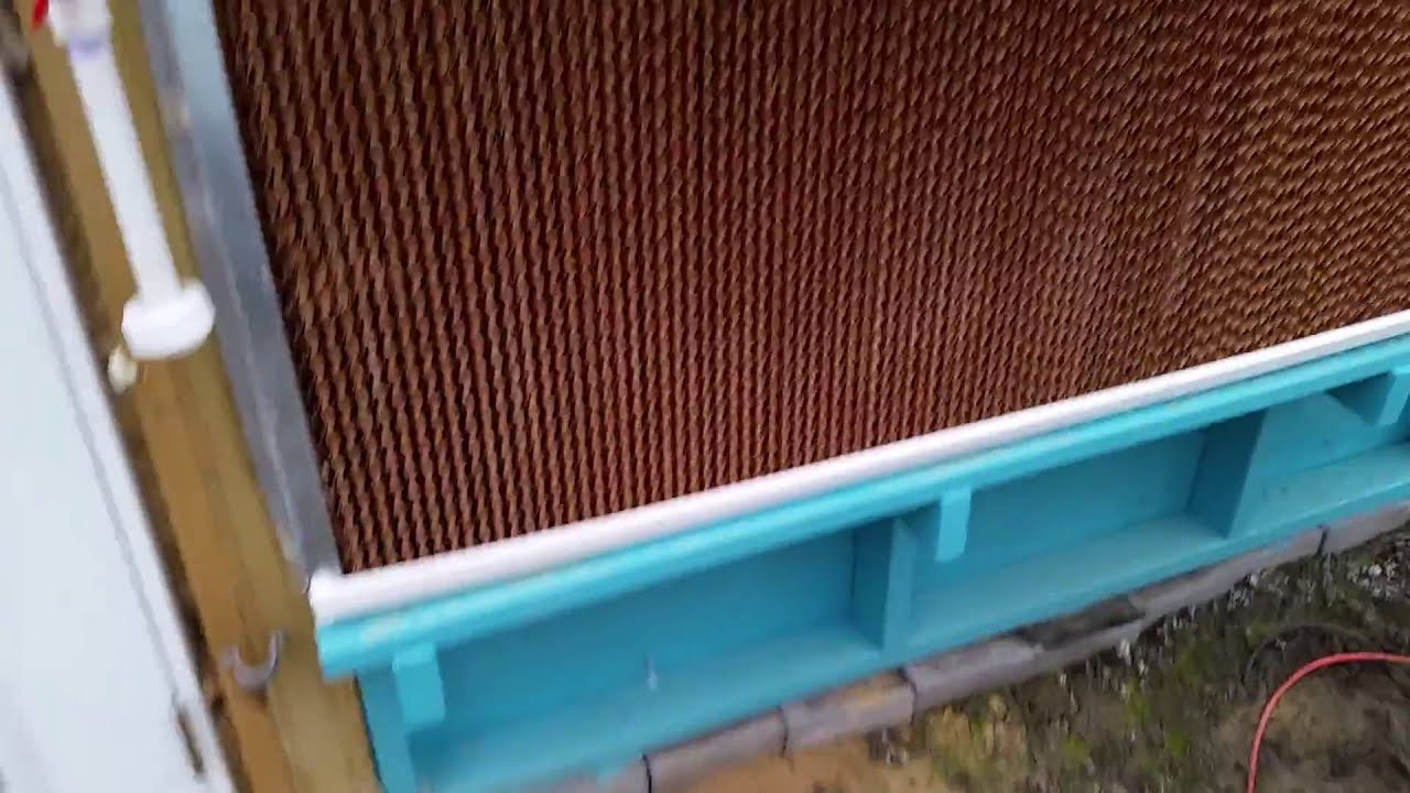 Backyard Aquaponics Greenhouse : Backyard Aquaponics  Greenhouse Cooling Wall and Exhaust Fans  North