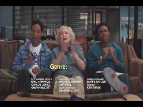 Troy, Abed and Betty White Rap