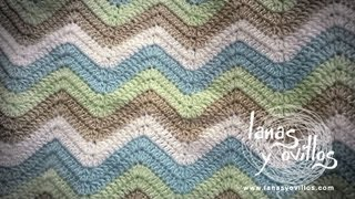 Repeat youtube video Tutorial Manta Zig Zag a Crochet o Ganchillo Paso a Paso en Español