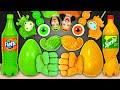 Green Food VS Orange Food Challenge 음식 챌린지 by Pico Pocky