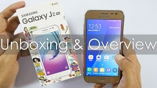 Samsung Galaxy J2 Budget 4G Smartphone Unboxing & Overview