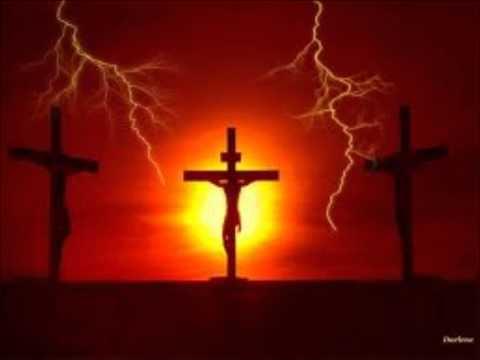 On the cross of calvary