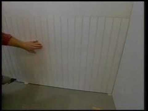How to install beadboard  wainscoting DIY