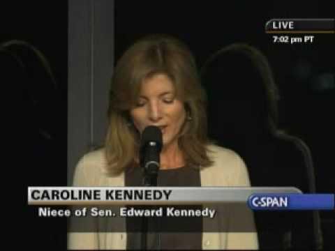 Edward Kennedy Memorial Service - Caroline Kennedy