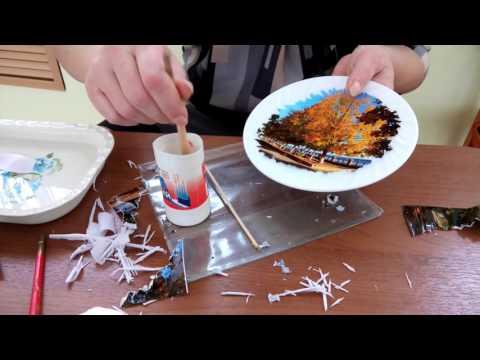 Как перенести фото на тарелку в домашних условиях