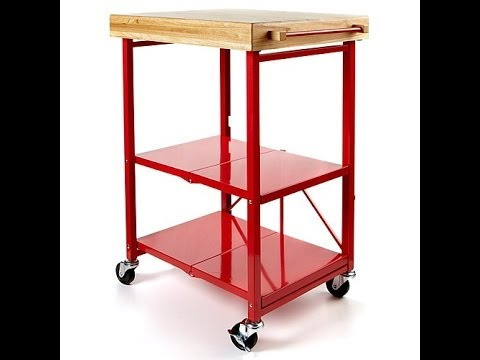 origami folding kitchen island cart - youtube