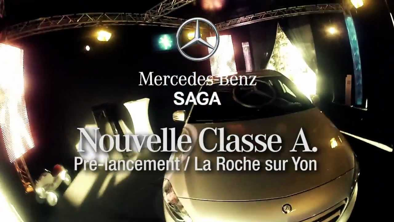 lancement mercedes classe a saga mercedes la roche sur yon 85 youtube. Black Bedroom Furniture Sets. Home Design Ideas