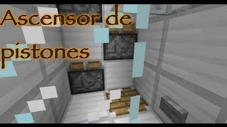 Tutorial de redstone: Ascensor de pistones - Minecraft