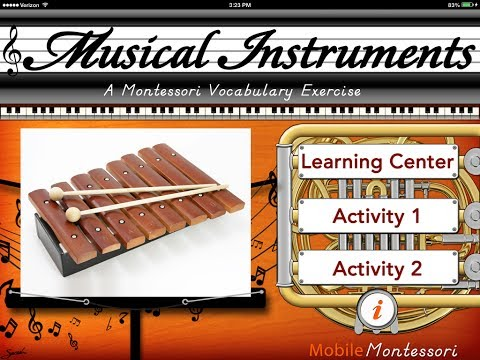 Musical Instruments - A Montessori Vocabulary Exercise HD