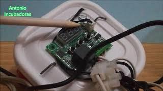 Incubadora casera. Cómo ajusté la temperatura y la humedad.