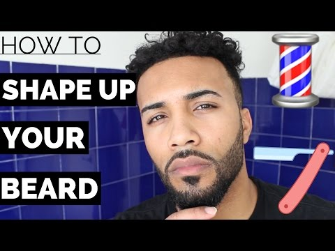 HOW TO LINE / SHAPE UP A BEARD TUTORIAL - Using Just A Straight Edge Razor Mens Beard 2017