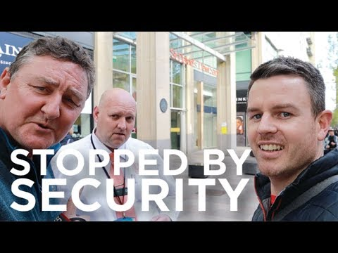 Street Photography With Gary Gough. Stopped By Security! Fujifilm X100F