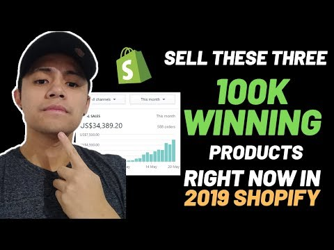 Sell These Three 100k Winning Products Right Now!   2019 Shopify Dropshipping thumbnail
