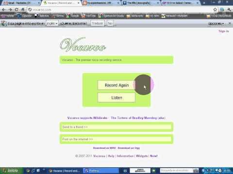 Tutorial VOCAROO (grabador de mensajes hablados para enviar por email)