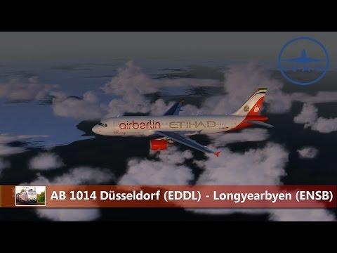 [Prepar3D / IVAO] AB 1014 Düsseldorf (EDDL) - Longyearbyen (ENSB) - Test von Svalbard-Longyear X