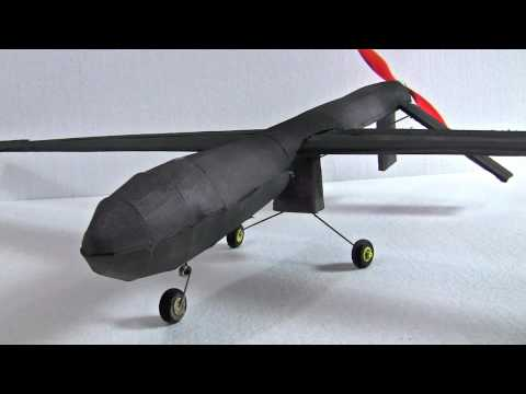 RC Predator Drone - Get the Plans at www buildafoamie com