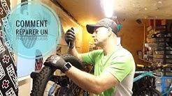Comment réparer un pneu tubeless