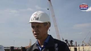 видео строительство керченского моста последние