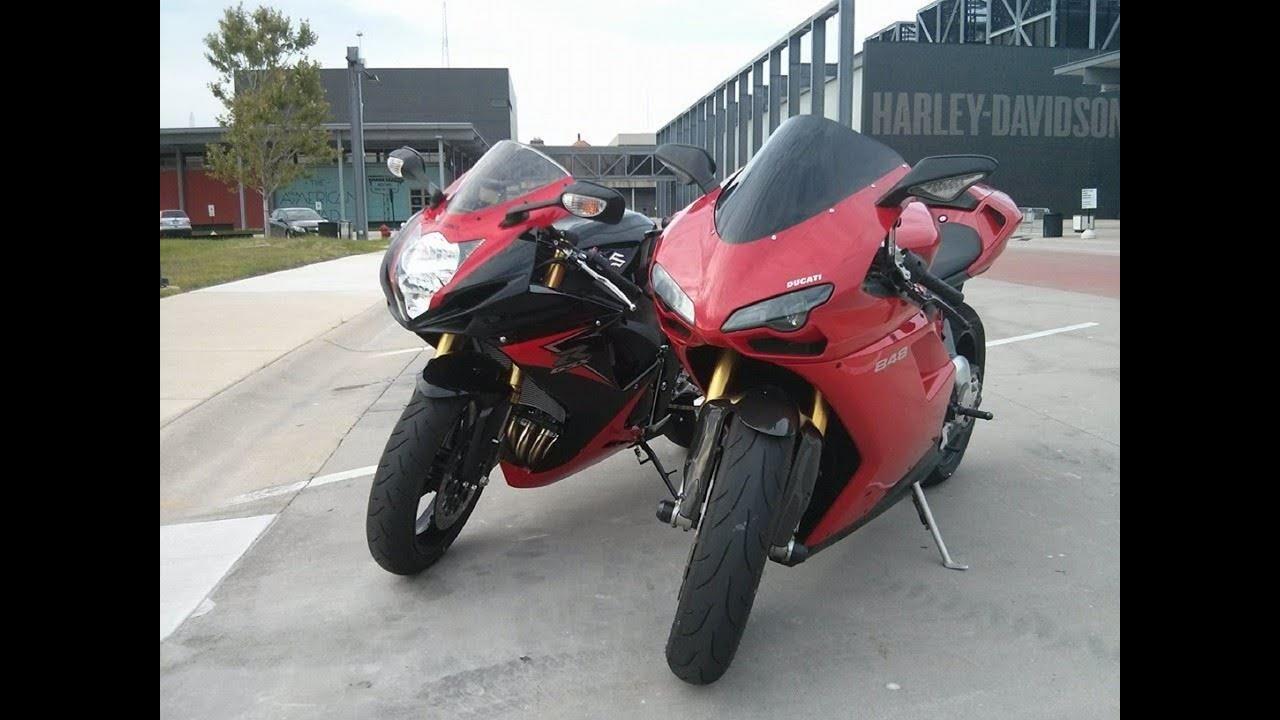 2008 Ducati 848 VS 2014 Suzuki GSXR 750 - YouTube