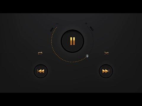 How to create Music Player Design in Adobe Illustrator cc