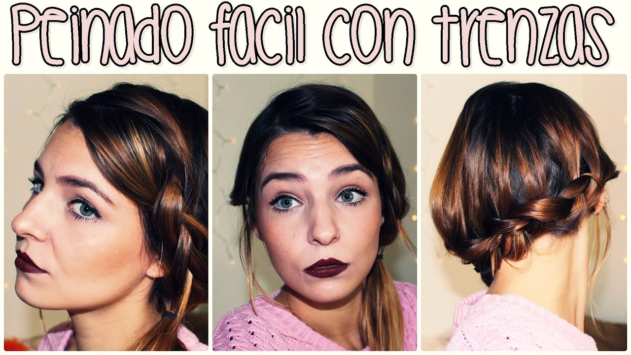 hair peinado fcil con trenzas para media melena nochevieja youtube