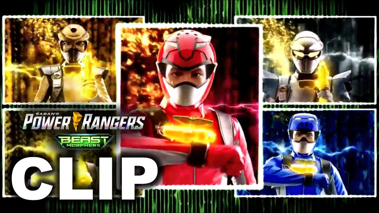 Power Rangers Beast Morphers - Full Team Morph (Episode 14 - 'Sound And  Fury')