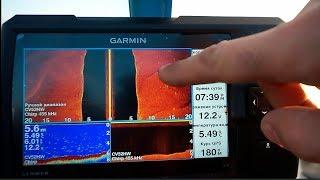 Эхолот Garmin Striker 7sv.  Первая рыбалка со структурником.