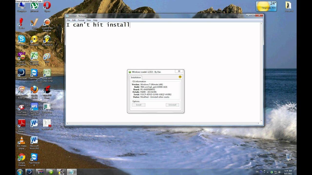 Windows 7 Loader Problem Youtube