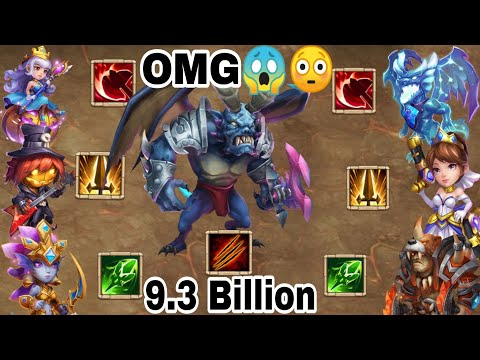 Summons Monster Huge Demage | 9.3 Billion 😎😎 |  With Lava And Without Lava |Castle Clash