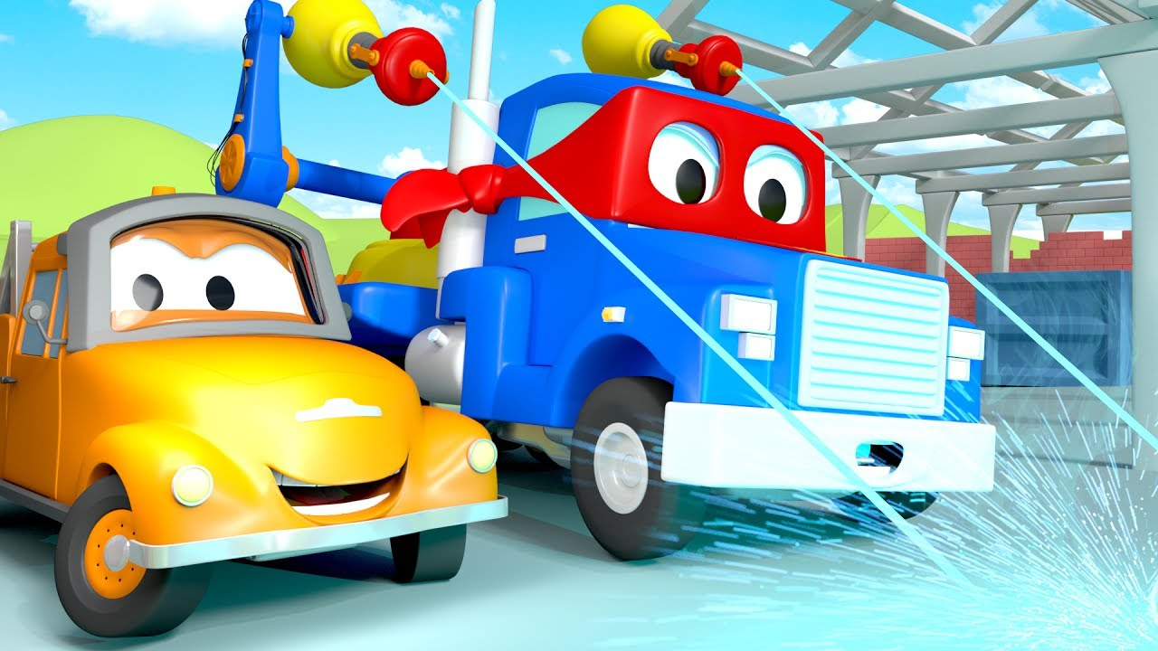 carl-the-super-truck-and-the-laser-truck-in-car-city-trucks-cartoon-for-kids