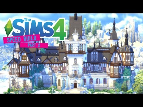 The Sims 4 -Speed Build- Peles Castle! (Part 2/4) First Floor Interior - No CC -